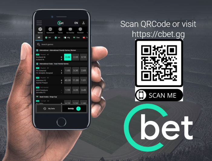 Cbet mobile site - download the app for Android and iOS systems - use the qrcode